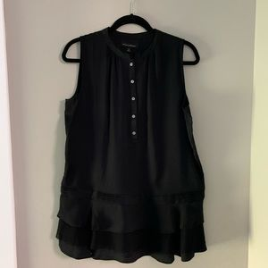 Banana Republic sleeveless black blouse